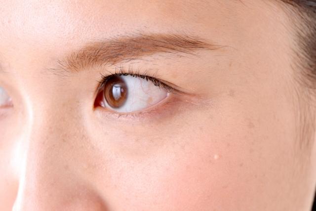 奥二重の目