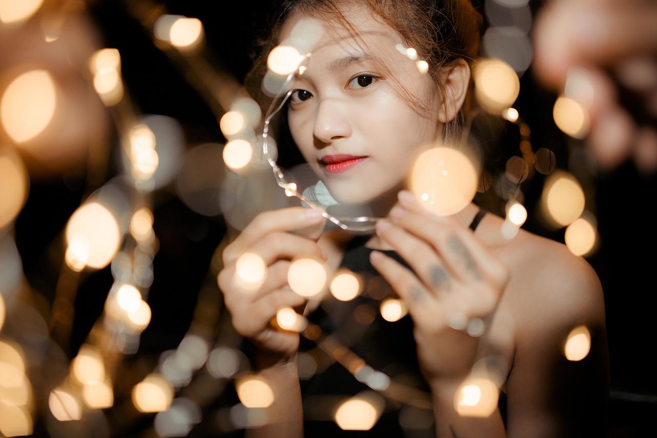 アジア人のかわいい女の子